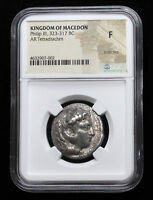 MACEDONIAN KINGDOM. PHILIP III ARRHIDAEUS. AR TETRADRACHM 32