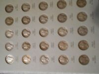 76 OF 77 SET OF MERCURY DIMES 1916 1945 ALL THERE EXCEPT THE