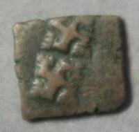 INDIA ANCIENT UJJAIN CIVIC COPPER COIN SQUARE C. 150 BC