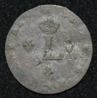US FRENCH COLONIAL 1738 1760 H SOU MARQUE AG G BILLON AMERIC