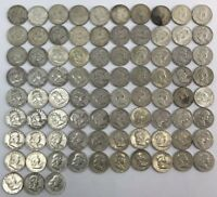 LOT OF 83 FRANKLIN HALF DOLLARS FROM 1948 TO 1963 SILVER