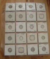 AUSTRALIA LOT OF 20 SILVER COINS   1911  1963 THREE PENCE
