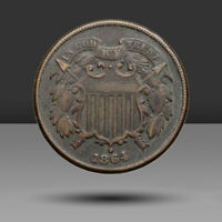 TWO CENT PIECE 2C FULL WE IN MOTTO 1864