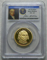 2007-S JAMES MADISON PROOF PRESIDENTIAL DOLLAR PCGS PR69DCAM - LIMITED EDITION
