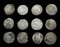HUNGARY. ASSORTED LOT OF 12 SILVER HAMMERED DENAR 1500 1600'