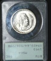1950 BOOKER T WASHINGTON COMMEMORATIVE PCGS OLD RATTLER HOLDER MINT STATE 64