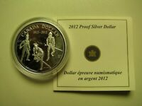 2012 PROOF $1 200TH ANNIVERSARY WAR OF 1812 .9999 SILVER DOLLAR COIN&COA ONLY CA