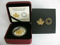 2015 PROOF $10 CELEBRATING CANADA .9999 SILVER W/ GOLD PLATE TEN DOLLARS