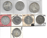 EIGHT  8  MIXED WORLD SILVER COINS 19TH AND 20TH CENTURY