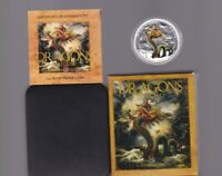 2012 DRAGONS OF LEGEND CHINESE DRAGON $1 1OZ SILVER PROOF TU