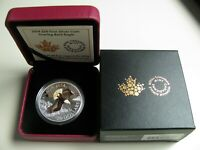 2014 PROOF $20 BALD EAGLE 3 SOARING COLOUR .9999 SILVER TWENTY DOLLARS