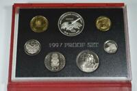 1997 NEW ZEALAND PROOF SET   SADDLEBACK  SILVER $5 COIN