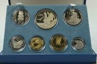 1998 NEW ZEALAND PROOF SET   ROYAL ALBATROSS  SILVER $5 COIN