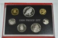 1999 NEW ZEALAND PROOF SET   MOREPORK OWL  SILVER $5 COIN