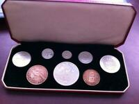 1953 NEW ZEALAND PROOF SET   QUEEN ELIZABETH CORONATION