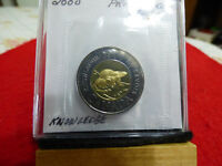 2000     CANADA 2$ TWO  DOLLAR  COIN  TOONIE  00  PROOF LIKE  SEALED  AUCTION