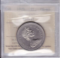 1975 ICCS MS65 $1  AJ FWL  CANADA ONE DOLLAR NICKEL