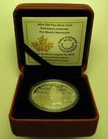2014 PROOF $20 PREHISTORIC ANIMALS 1 WOOLLY MAMMOTH .9999 SILVER CANADA TWENTY