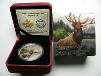 2015 PROOF $20 MAJESTIC ANIMALS 2 ELK CANADA .9999 SILVER TWENTY DOLLARS