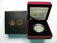 2017 PROOF $20 DRUSY STONE INLAY BRILLIANT BIRCH LEAVES CANADA .9999 SILVER TWEN