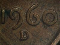 1960 D 1MM 032 WRPM 028 LINCOLN CENT REPUNCHED MINT MARK