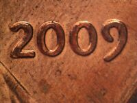 2009 P FY 1DO 002 WDDO 002 CDDO 002 LINCOLN CENT DOUBLED DIE