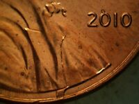 2010 P OBVERSE CUD LINCOLN CENT