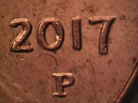 2017 P WDDO 017 LINCOLN CENT DOUBLED DIE