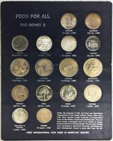 1968  1970 SILVER FAO MONEY 16 COIN FOOD & AGRICULTURE WORLD FOOD DAY SET 2