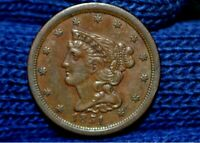 1851 HALF CENTAUCHOICE BROWN