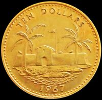 1967 GOLD BAHAMAS 3.99 GRAMS $10 DOLLAR FORTRESS MINT STATE