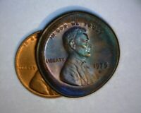 1975 D LINCOLN CENT LG MULTI STRUCK BROAD STRIKE TONED