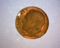 1966 ROOSEVELT DIME  MISSING CLAD LAYER >>BOTH SIDES<< .9 GR