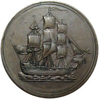 1815 LOWER CANADA HALFPENNY TOKEN SAILING SHIP BRETON 1004  THIS NICE