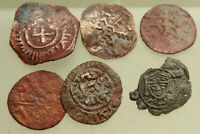 LOT OF 6X MEDIAVAL AE14 17MM COINS ITALY SICILY