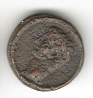 UNIDENTIFIED ANCIENT ROMAN EARLY EMPEROR  BRONZE 19 MM COIN AUCTION STARTS AT 1