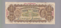1926 KELL COLLINS HALF A SOVEREIGN TEN SHILLINGS BANKNOTE A