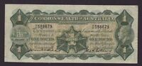 1926 COMMONWEALTH AUSTRALIA ONE POUND BANKNOTE KELL COLLINS