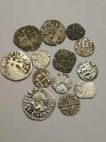 LOT OF MEDIEVAL GREAT EUROPEAN SILVER COINS 12 16 CENTURY  H
