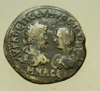 SEPTIMIUS SEVERUS AND JULIA DOMNA AE 29MM MARCIANOPOLIS TYCH