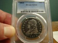 1814 CAPPED BUST HALF _ PCGS VF 20 _ NO PROBLEMS HERE