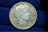1892-S BARBER HALF DOLLAR VF  FULL LIBERTY TAKE 5 OFF RIGHT NOW