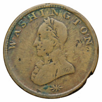 WASHINGTON CENT DOUBLE HEAD VLACK 15 1820'S