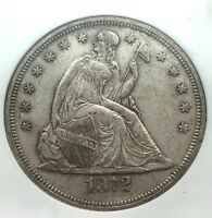 1870- U.S. LIBERTY SEATED SILVER DOLLAR AU-50,1872- SEATED LIB. DOL. AU-53 NGC