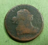 NO DATE DRAPED BUST HALF CENT,   HCND   1800 TO 1808