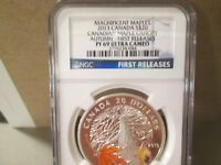 CANADA 2013 $20 PROOF MAGNIFICENT MAPLE CANOPY AUTUMN NGC PF69UCAMEO  044