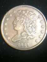 1834 PHILADELPHIA MINT COPPER CLASSIC HEAD HALF CENT
