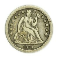 1841 SEATED LIBERTY DIME, SMALL, EARLY TYPE SILVER COIN [4174.136]