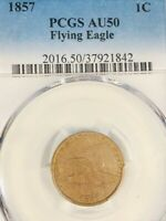 1857 1CT FLYING EAGLE SMALL CENT  PCGS AU50          18-01324
