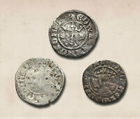 ENGLAND. EDWARD I HAMMERED SILVER PENNY LOT OF 3 LONDON AND
